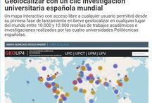 #GeoUP4 / Recursos adicionales + contenidos adicionales + difusión en social media del proyecto de geolocalización de la producción científica a nivel internacional de las cuatro universidades politécnicas españolas : UPC + UPV + UPM + UPCT / @biblioUPM