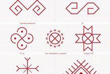 Simboluri semne cusute