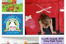 Children learning reading & writing