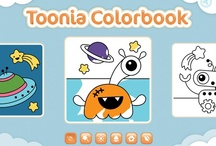 Toonia Colorbook / Toonia Colorbook turns your iPad into a beautiful coloring book for your kids, helping them develop concentration skills, motor skills and eye-hand coordination as well as creative thinking, all without making a mess!