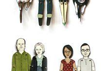 kreslené postavy