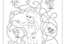 Kids activities (mazes, worksheets, colouring)