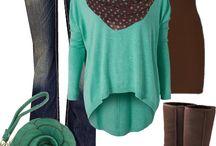Barna és türkiz/Brown and turquoise
