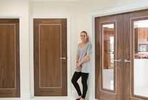 Walnut Aluminium Inlay Doors