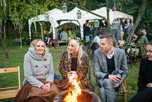 bon fire >//< / wedding bon fire guests cold weather wedding fall winter