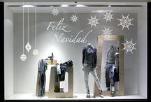 decoracion vitrinas navideñas