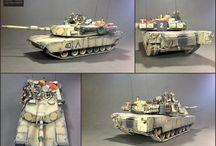 M1A1 Abrams ODS / Name: M1A1 Abrams  Manufacture : Tamiya Scale : 1/35 Made by : Maciej Ligięza (Daz) Company : MModels