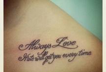 Tattoo *INK*  <3 / Random Tattoos I seem to love <3