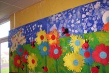 Decoració Primavera / Idees, inspiració per decorar l'aula i l'escola per la Primavera
