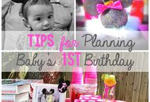 First birthday party / Children's first birthday party ideas / by Melissa Borowiec