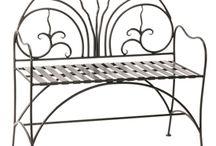 Wrought Iron Benches