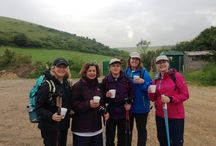 Jurassic Challenge / An amazing time had by all who walked 22 miles along the Jurassic coast in aid of the TeenageCancer Trust. A 5.30am breakfast didn't go down too easily but we knew we had to eat! Rain at the start of the day turned into beautiful sunshine and the last half of the walk was the most gorgeous coastline. Nine and a half hours later we were finished, and quite ready to! Thanks to Lucy, Cristina, Philippa and Karin we raised over £1200 for the TCT so thanks to everyone for their generosity!