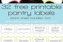 Organizing & Labeling