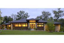 Prairie Style Home / Contemporary Prairie-style home