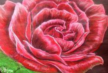 loesruland schilderijen bloemen