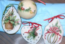 Porcelain painting: Christmas