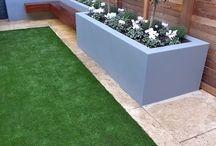 Garden flower beds / Rendered beds garden plants