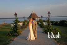 Sarah + Chris: Real French's Point Wedding / Romantic Coastal Wedding at French's Point. Get married on the ocean in Maine.
