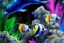 рыбки и дельфины