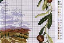 оливки крестиком
