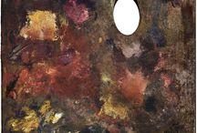 Palete, ateliere si autoportrete de pictori / Chipuri de pictori si paletele lor.