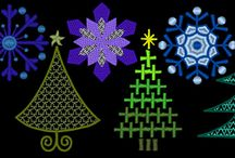 FREE Christmas 2014 Snowflakes and Trees Embroidery Designs / FREE Christmas machine embroidery designs