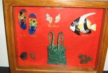 De petites créations faites maison / origami, peinture, carte de félicitation