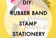 Paper / Stationery, stamps, hand lettering