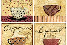 Coffee decoupage