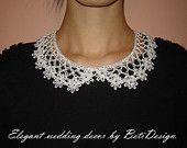 BetiDesign-Crochet Collar / Crochet Collar. Hand made. Collar Necklace Peter Pan.