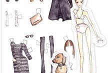 Paper Dolls / Paper dolls, cut outs, dressing dolls / by Janice Pattie