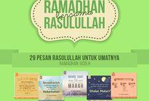 Ramadhan Bersama Rasulullah 1435 H / #RamadhanBersamaRasulullah adalah sebuah project tipografi harian yang berisi pesan-pesan Rasulullah. Saya ingin menghadirkan pesan-pesan Rasulullah tersebut dengan lebih kreatif dalam visualnya, supaya kita semua bisa memahami dan mengamalkannya pada Ramadhan kali ini dan seterusnya.   Semua hadits yang saya visualkan, saya kutip dari Kitab Riyadh Al-Shalihin karya Imam Nawawi.  Semua karya dalam project ini bebas disebarluaskan tanpa mengubah tampilannya.