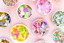 Confetti fest / Colourful confetti, glitter and sprinkles. Everything from DIY wedding ideas to gift wrapping and pretty inspiration