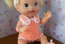 baby alive bebek için örgü bebek kıyafetleri