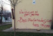 duvar yazıları.