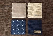 編み物 コースター