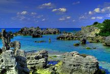 Bermuda (The Bermudas or Somers Isles) / Bermuda is a self-governing British overseas territory in the Atlantic Ocean north of the Caribbean, off the coast of North America east of North Carolina. It is one of the last remains of the once vast British colonial empire in North America. / by Jeannine Mantooth