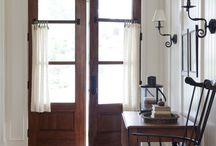 Rooms:  Entry ways, hallways, and nooks