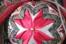 Ribbon and fabric ornaments