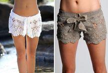 skirt and short crochet