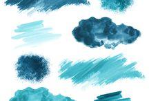 Watercolour Elements
