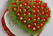kytice, darčeky z cukrikov