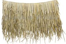 "Tropical Thatch / Give your outdoor space a ""tropical"" look and feel with palm thatching. Great for Hawaiian themed luaus and parties, or a great DIY project to add a little flair and style to your backyard."