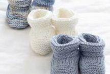 Tricot bébé  |  Chaussons