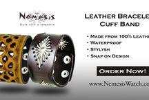 Nemesis Leather Bracelets