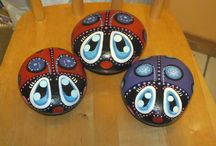PooToo's Painted Rocks / These Rocks I have painted with the help of books, with the inspiration of seeing others' art rocks  / by Diana Jiron-Graff