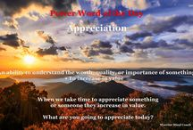 Mental Strength Word of the Day / Collection of powerful words and questions to inspire.