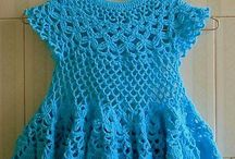 vestidos de niñás á crochet