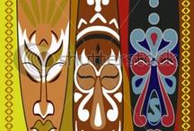 Masks and sculptures  Art / Around the world art