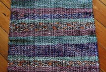 Striped rag rug / Dark colours